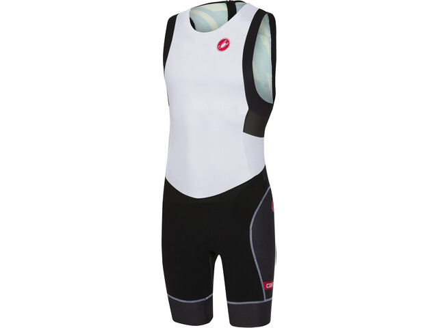Castelli Short Distance Race Suit Herrer, white/black